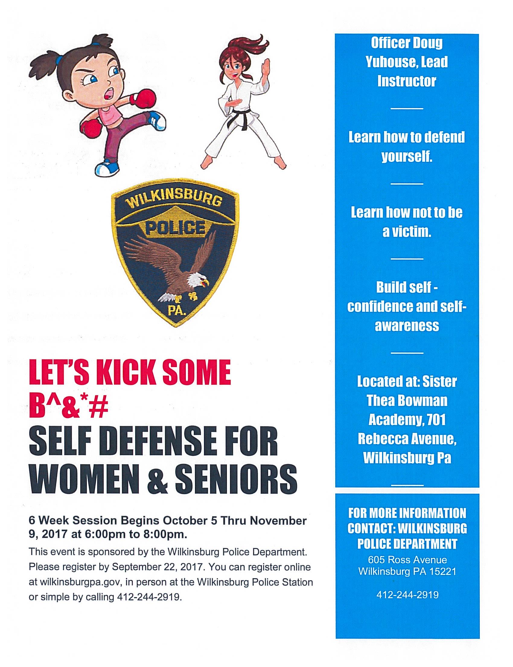 Free Self Defense Classes - Borough of Wilkinsburg